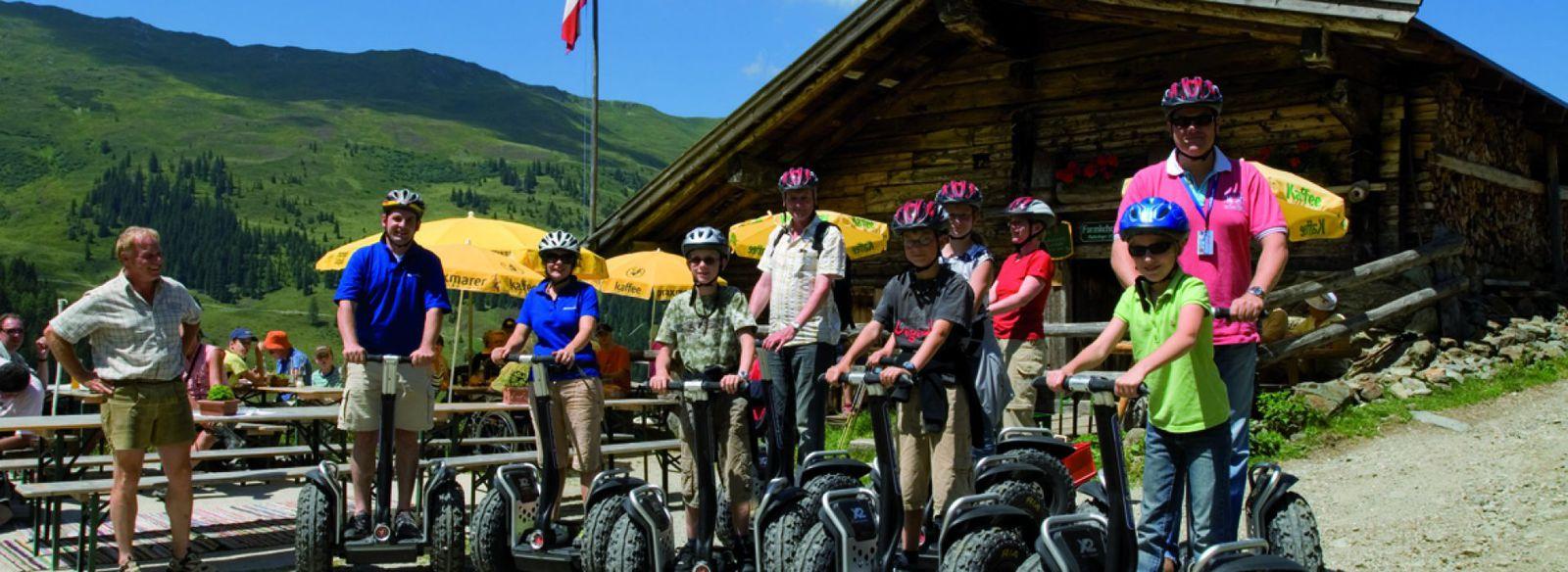 Gruppentouren auf dem Segway durch das Alpbachtal